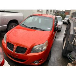 2009 PONTIAC G3, ORANGE, HATCHBACK, VIN# 3G2TV65E49L126131