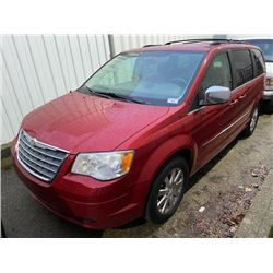 2008 CHRYSLER TOWN & COUNTRY TOURING, 4DR VAN, RED, VIN # 2A8HR54P48R844906