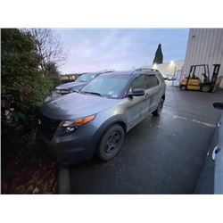 2013 FORD EXPLORER AWD, 4DR SUV, GREY, VIN # 1FM5K8ARXDGA09308