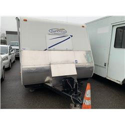 2007 TRAILLITE TRAILCRUISER R VISION TRAVEL TRAILER, WHITE, VIN # 4WYT02E2472903436