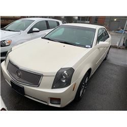2006 CADILLAC CTS, PEARL, 4DRSD, GAS, AUTOMATIC, VIN# 1G6DP577260158154, 204,760KMS, OOC