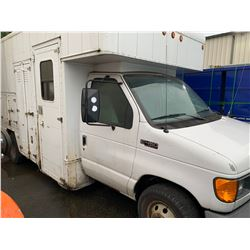 2005 FORD E450, WHITE, SERVICE VAN, DIESEL, AUTOMATIC, VIN#1FDXE45P95HB04259, 111,455KMS, *WILL NOT