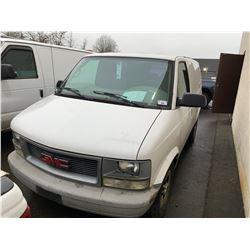 2005 GMC SAFARI, 3DR CARGO VAN, WHITE, VIN # 1GTDM19X35B506302