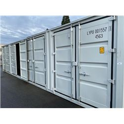 """BRAND NEW 40FT STORAGE SHIPPING CONTAINER WITH 4 SIDE DOORS AND 1 REAR DOOR, 9'6"""" TALL"""