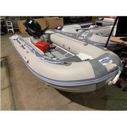 BAKERVIEW BOATS ALU-330DL GREY / LIGHT GREY 11' DOUBLE LOCKER, FLAT FLOOR, 6 PERSON, 20 - 25 HP