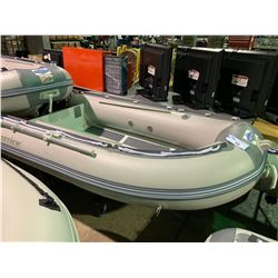 BAKERVIEW BOATS ALU-270D GREY / LIGHT GREY 9' FLAT FLOOR, 5 PERSON, 15 HP MAX PVC INFLATABLE,