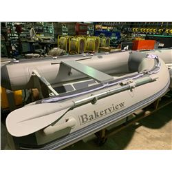 BAKERVIEW BOATS ALU-240 GREY / LIGHT GREY 8' V-FLOOR, 4 PERSON, 9.8 HP MAX PVC INFLATABLE,