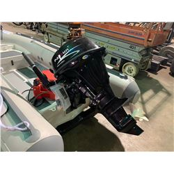 PARSUN F20ABMS 4 STROKE 20 HP GAS POWERED OUTBOARD MOTOR WITH TILLER ARM PLUS FUEL LINE & MARINE