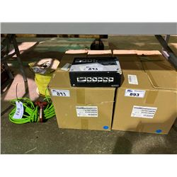 """LOT OF COSAIR POWER 400W POWER SUPPLY, 2 BOXES 12"""" LD FLUSH MOUNT ROUND, LIME GREEN EXTENSION CORD"""
