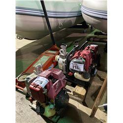 ASSORTED GAS MOTORS & FLOOR JACK