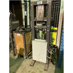 CUSTOM HYDRAULIC PRESS WITH MOBILE CART & CONTENTS