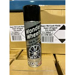 1 SKID OF APPROX 124 BOXES 6 X 500ML OF WONDER WHEELS TIRE & TRIM