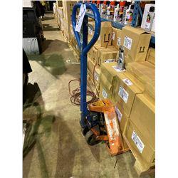 ORANGE & BLUE CDS 5500LB SKINNY PALLET JACK