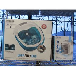 HOMEDICS DEEP SOAK DUO & PERSONAL SPACE COOLER