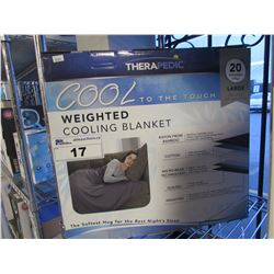 THERAPEDIC WEIGHTED COOLING BLANKET SIZE LARGE
