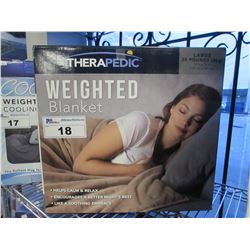 THERAPEDIC WEIGHTED BLANKET SIZE LARGE