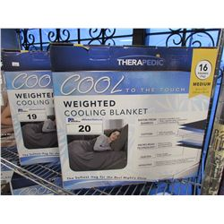 THERAPEDIC WEIGHTED COOLING BLANKET SIZE MEDIUM