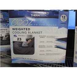 THERAPEDIC WEIGHTED COOLING BLANKET SIZE SMALL