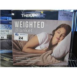 THERAPEDIC WEIGHTED BLANKET SIZE SMALL