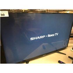 "SHARP ROKU  50"" SMART TV WITH REMOTE MODEL LC-50LB371C"