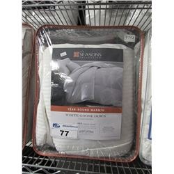 THE SEASONS WHITE GOOSE DOWN QUEEN COMFORTER