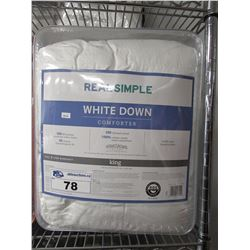 REAL SIMPLE WHITE DOWN KING COMFORTER