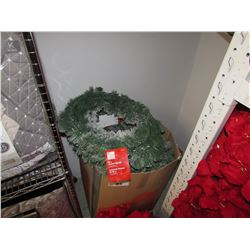 "BOX LOT APPROXIMATELY 12 CHRISTMAS WREATHS (26"" FLOCKED)"