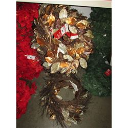 APPROXIMATELY 15 MAGNOLIA WREATHS 30""