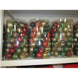 6 X 75PC SHATTER RESISTANT  CHRISTMAS TREE ORNAMENT