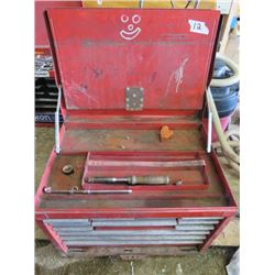 TOOL BOX (METAL) *12 DRAWER* (INCLUDES MISC TOOLS INSIDE)