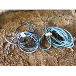 LOT OF 2 AIR HOSES (APPROX 25' & 30')