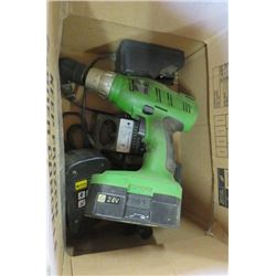 DRILL (INCLUDES 3 BATTERIES; 2 X 120 V, 1 X 240 V) *2 CHARGERS*