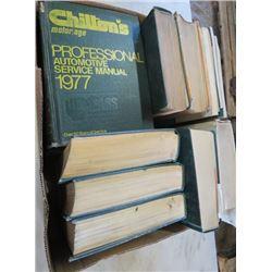 LOT OF CHILTONS AUTOMOTIVE BOOKS