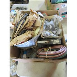 LOT OF SHOP SUPPLIES (GASKETS, HOSES, FILTERS, TRAILER REPAIR KIT, ETC)