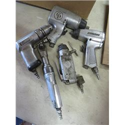 LOT OF AIR TOOLS (RACHET, DRILL, SOCKET) *IMPACT DRILL & WRENCH*