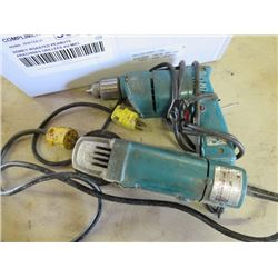 DRILL AND DISC GRINDER (MAKITA) *BOTH 100 MM*