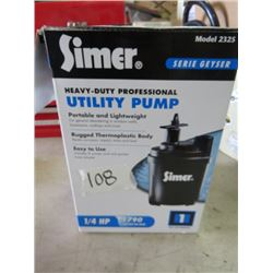 HEAVY DUTY UTILITY PUMP (SIMER)