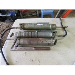 LOT OF 3 GREASE GUNS