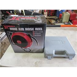MINI AIR HOSE REEL AND BRAD NAILER