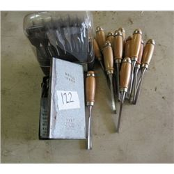SPACE BIT SET, DRILL BIT SET & WOOD CHISELS