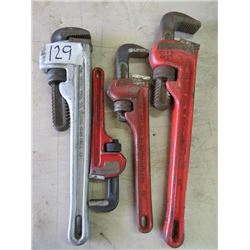 "LOT OF MONKEY WRENCHES (2 X 14"", 10"" & 8"")"