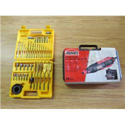 ROTARY TOOL KIT AND BIT SET