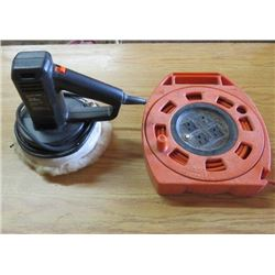 BLACK AND DECKER BUFFER AND EXTENSION CORD ON REEL