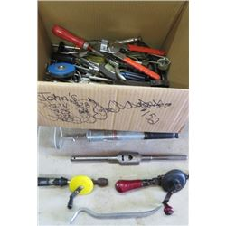 LOT OF MISC TOOLS (BRUSH AND ROLLER CLEANER, ETC)