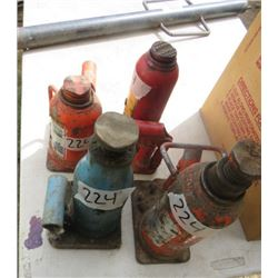 LOT OF 4 HYDRAULIC JACKS