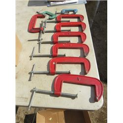 LOT OF CLAMPS (VARIOUS SIZES)
