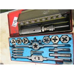 SCREW PLATES, TAP AND DIE SET (X 2)