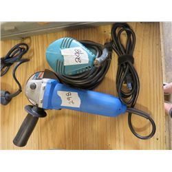 METAL ANGLE GRINDING DISC AND PALM SANDER (MASTERCRAFT)