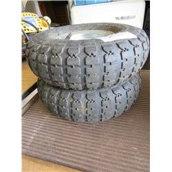 LOT OF 2 TIRES (4.10-3.50-4) *4 PR LOAD RANGE B MAX LOAD 400 LBS*