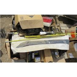 LOT OF AUTO SUPPLIES (SEAT BELTS, BRAKE PADS AND SHOES, U-JOINTS, BELTS, ETC)